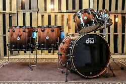 DW Collector's Series Exotic Maple/Mahogany Drum Set - SO# 1122905