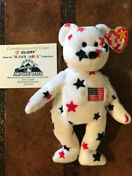 Ty Beanie Baby Glory Rare W/errors In Mint Condition – 1998 Mlb All Star Game