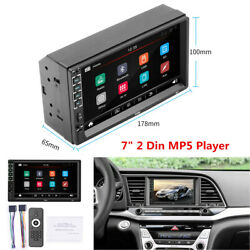 7 2 Din Touch Screen Car Radio Stereo Bluetooth Fm / Usb Aux Input Mp5 Player