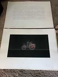 Rare Mercedes Dealership Art Prints 1950and039s 1960and039s Salesman Velo Type K 6 Pieces