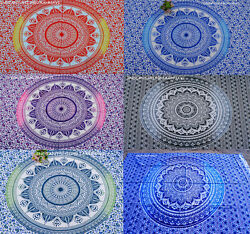 Lot of 6 Indian Hippie Mandala Tapestry Bohemian Bedspread Ethnic Dorm Decor