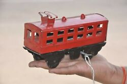 Vintage Wind Up Red And Black Litho Tram/cable Car Tin Toy, Japan