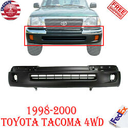 Front Bumper Cover Primed W/ Fog Light Holes For 1998 - 2000 Toyota Tacoma 4wd