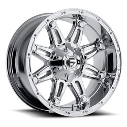 4 22x9.50 Fuel Offroad D530 Chrome Hostage Wheels 8x170 For 03-19 F-250 F-350