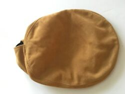 Vtg Astro Suede Leather Cabbie Newsboy Cap Mens One Size Made In Usa Henschel A+