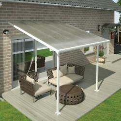 Palram Canopia Feria White Garden Patio Cover 10ft And 13ft