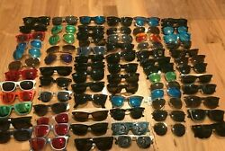 Lot of 100 Authentic Ray Ban Sunglasses Frames - Used