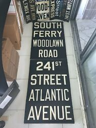 Ny Nyc Subway Roll Sign South Ferry Atlantic Ave Brooklyn Woodlawn Road 241st St