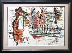 Leroy Neiman The Stags Head Custom Framed Art Bar Dame Court Dublin Ireland