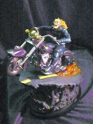 Ghost Rider Chrome Bowen Designs Full Size Statue By Randy Bowen New