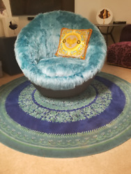 Lounge Chair. Leather And F-fur. Matching Gianni Versace Collection Pillow Incl.