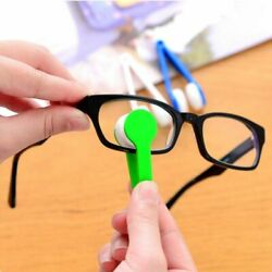 Glasses Cleaning Rub Eyeglass Sunglasses Spectacles Microfiber Cleaner Brushes