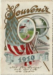 Antique Greeting Card From Teacher Souvenirand039and039 With Insert Of Graphics And Quotes