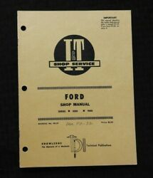 1971 Ford 8000 And 9000 Tractor I And T Service Shop Repair Manual Very Nice Shape