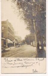 Pm 1906 Hammondsport Ny Downtown Main St Grocery Drug Store Signs Photo Postcard