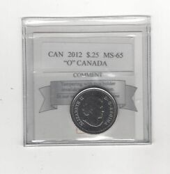 2012 And039oand039 Canada Coin Mart Graded Canadian Twenty-five Centms-65 Nbu