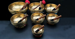 Master Healing Therapy Bowl-set Of 7 Peter Hess Singing Bowl From Nepal-yoga