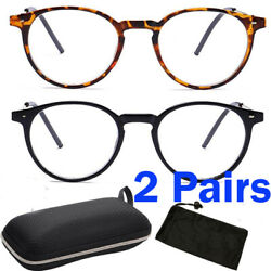 Nearsighted Shortsighted Distance Myopia Glasses for Womens Men Round Shape Case $11.99