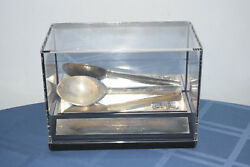 1984 World Hunger Media Award Silver Spoon Display By Save The Children