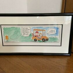 Peanuts Snoopy Fairway Funnies Collection Lithograph 90 ° Rule 500 Limited