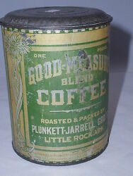 Good Measure Brand Coffee Cup Tin Can Cup Vintage  Advertising 208-j