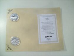 The History Channel Civil War Battles Silver Plated Coins Fort Sumter Bull Run