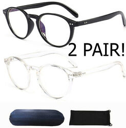 Nearsighted Shortsighted Distance Myopia Glasses for Womens Men Round Shape Case $15.99