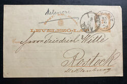 1879 Hungary Postal Stationery Postcard Cover To Rostock Germany