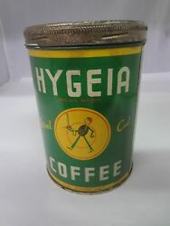 Vintage Hygeia Brand Coffee Tin Advertising Collectible Can 784-x