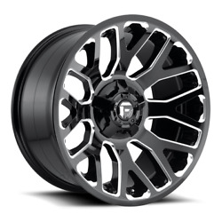 4 20x10 Fuel Gloss Black And Milled Warrior Wheel 8x170 For 03-09 Ford F250 F350