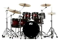 DW Collector's Lacquer Shell Pack - 7-pc - Quick Candy Black Burst over Purplehe