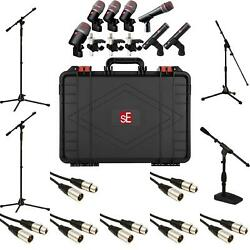 sE Electronics V Pack Arena Drum Mic Package with Cables & Stands