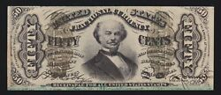 Us 50c Fractional Currency 5th Issue Fr 1335 Xf Au -005