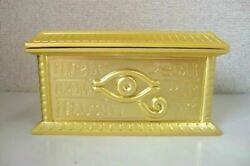 Yu-gi-oh Duel Monsters Replica Gold Sarcophagus Diecast Model 1/1 By Movic Japan