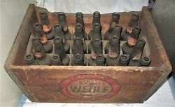 Antique Wehle Ale Lager Beer Brewing Co Usa Wood 24 Bottle Art Box Crate Sign Us