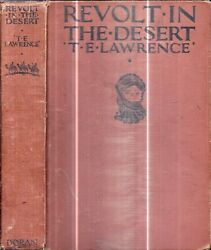 1927 Lawrence Of Arabia Revolt In Desert Against Turkey Maps And Prints Gift Map