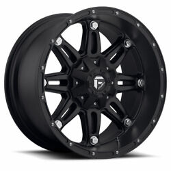 4 20x10 Fuel Matte Black Hostage Wheels 5x114.3 And 5x127 For Jeep Toyota Gm