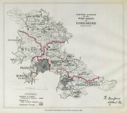 Yorkshire West Riding East Division Parliamentary. Boundary Commission 1885 Map