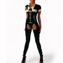 Latex Catsuit Gummi Sexy Jumpsuits Clubwear Party Dress Hole Customized 0.4mm