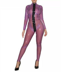 Latex Catsuit Gummi Sexy Classic See Through Jumpsuits Clubwear Customized 0.4mm