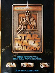 Star Wars Signed Autograph Photo Poster Trilogy Hamill Fisher Bdw Jeremy Bulloch
