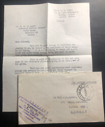 1941 British Army Field Post Oas Cover To Major Jgk Agnew Durban South Africa