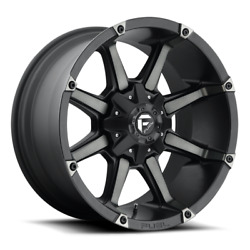 4 22x12 Fuel Black And Machined Wheel 5x139.7 And 5x150 For Ford Jeep Toyota Gm