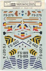 Micro Scale Decals F-84g Thunderjets Us Air Force Military Fighter Heller 172