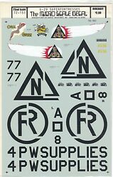 Micro Scale Decals B-29 Superfortresses Us Air Force Military Bomber 172 Nos