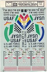 Micro Scale Decals F-100d Super Sabre 3 Usaf Military Fighter Hasegawa 172 Nos