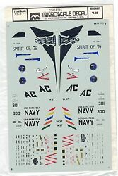 Micro Scale Decals Corsairs Uss Saratoga Spirit Of '76 Us Military Navy 172 Nos