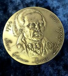 Count Jean-etienne-marie Portalis French Civil Code Founder Silver Medal 60mm