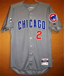 2015 Chicago Cubs John Mallee Gray Button-down Mlb Majestic Size 46 Jersey
