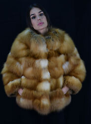 Red Fox Jacket With Pelts Across - Size Small